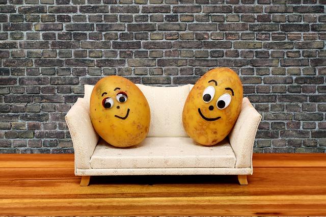 brambory na sedačce